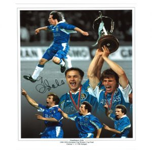 Gianfranco Zola Signed Photo Montage