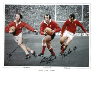 Welsh Rugby Legends Signed Photo