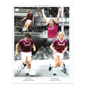 Tony Cottee & Frank McAvennie Dual Signed Photo Montage