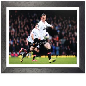"Wayne Rooney Framed Signed Photo - ""Half Way Line Goal"""