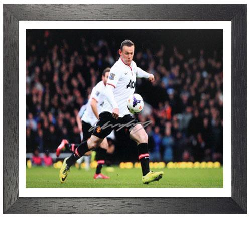 """Wayne Rooney Framed Signed Photo - """"Half Way Line Goal"""""""