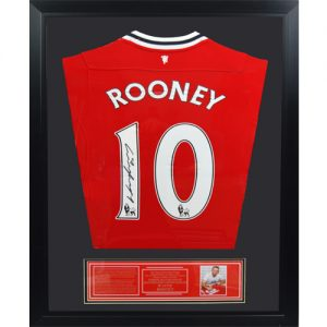 Wayne Rooney Framed Signed Manchester United Shirt