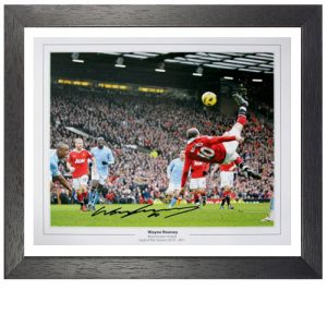 Wayne Rooney Framed Signed Photo - Overhead Kick