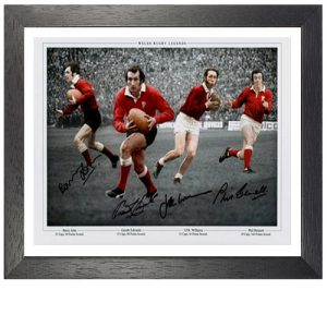 Welsh Rugby Legends Framed Signed Photo