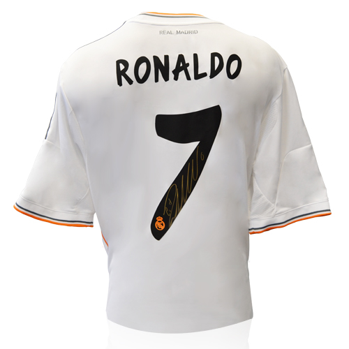 huge selection of 857ab 8328a Cristiano Ronaldo Signed Real Madrid Shirt (2013-2014)